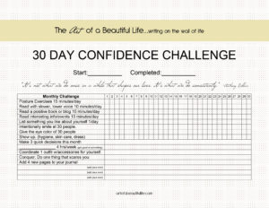 30 Day Challenge - Be Confident - Monthly Challenge