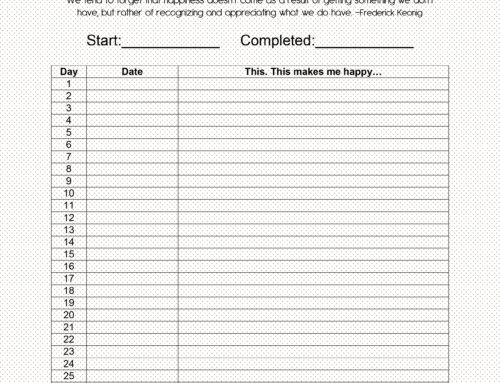 30 Day Challenge: 30 Days of Happy