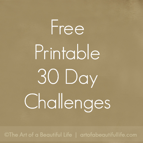 30 day challenge sheets - free printable