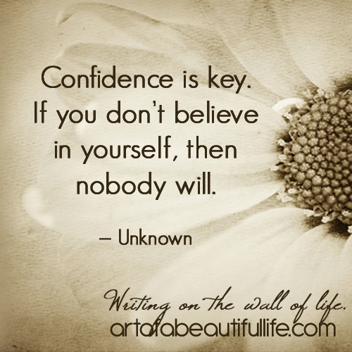 How to Be Confident, Beautifully Confident by artofabeautifullife.com (Free, Printable 30 Day Confidence Challenge)