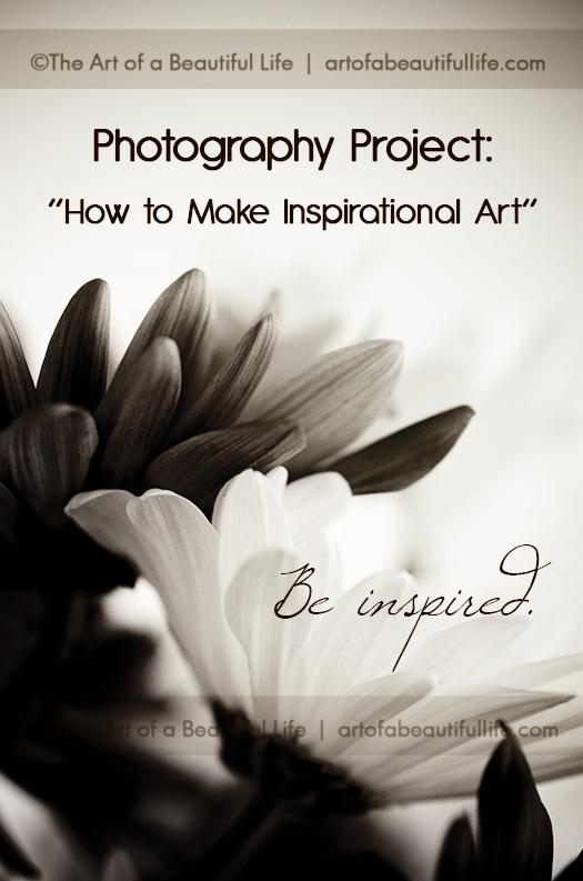 inspirational art photo project