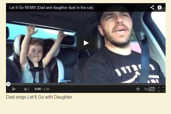 Epic Dad Sings Let It Go with Daughter