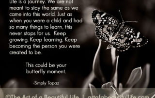 This could be your butterfly moment. | Read more... artofabeautifullife.com