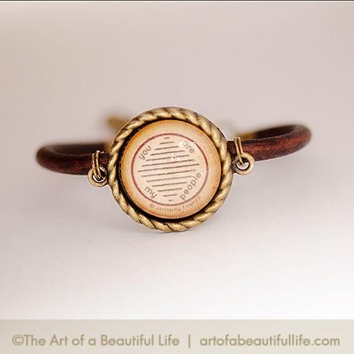 You Are My People Leather Tribe Bracelet | artofabeautifullife.com