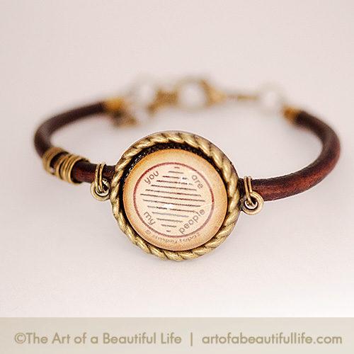 You Are My People - Leather Tribe Bracelet | artofabeautifullife.com