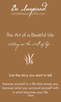Live the Story You Want to Tell by artofabeautifullife.com