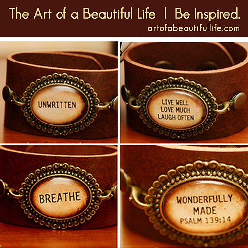 leather cuff bracelets with quotes quotesgram