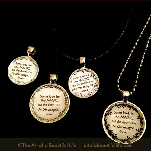 Silver Necklace with Inspirational Quote - Be inspired! by artofabeautifullife.com