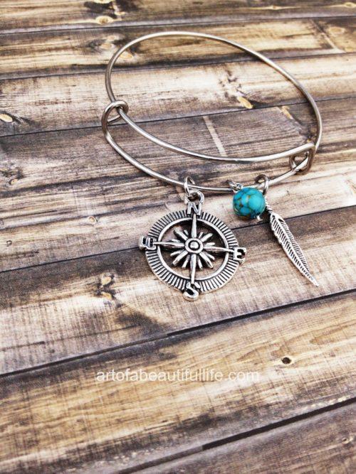 Adventure Bracelet - Not All Who Wander Jewelry - Boho