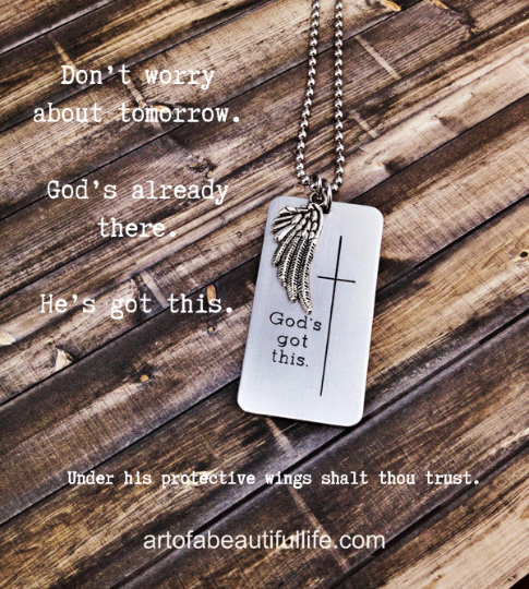 God's Got This Christian Quote Necklace