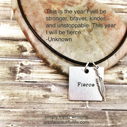Fierce Quote Necklace - 7759