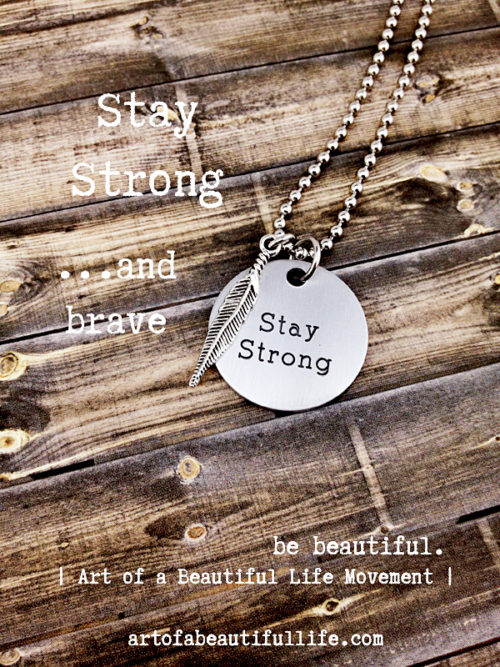 Stay Strong Necklace - Encourage Jewelry - 6359