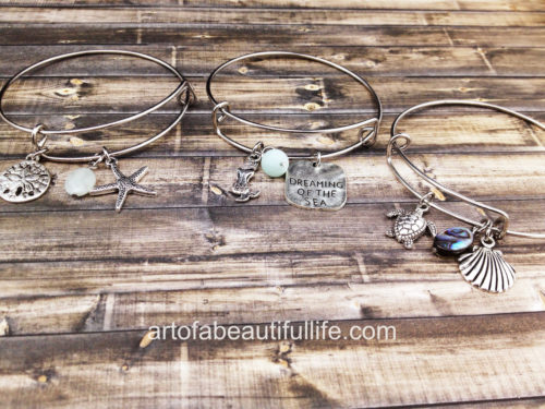 Expandable Beach Bangle Bracelets