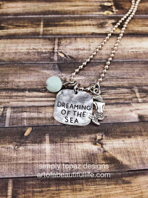 Dreaming of the Sea Mermaid Necklace with Amazonite