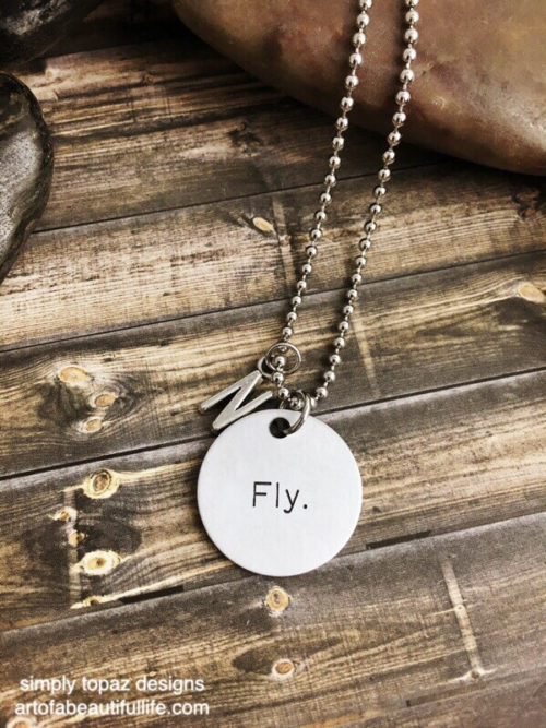 Custom Fly Necklace Personalized with Initial - Inspirational Jewelry