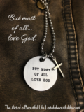 But Most of All Love God Christian Necklace with Cross