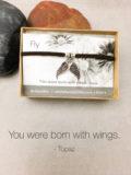 Fly Quote Jewelry  Born to Fly Bracelet   Inspirational Jewelry   Suede Bracelet