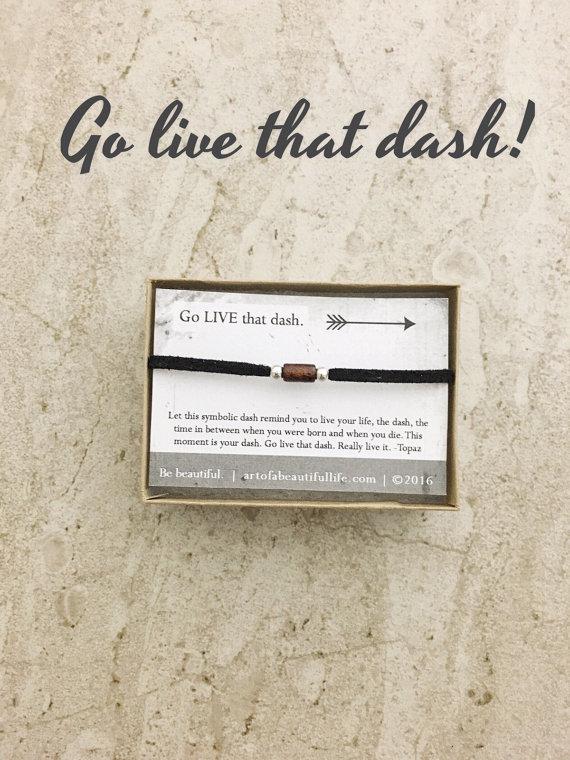 inspirational jewelry, inspirational bracelet - go live that dash