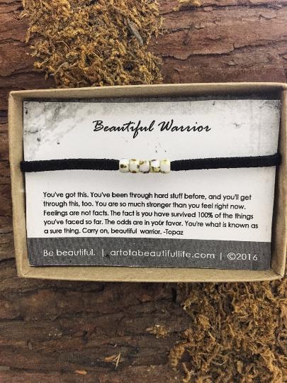 Beautiful Warrior Bracelet - Be Strong Jewelry
