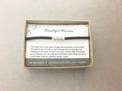 Beautiful Warrior Bracelet - Be Strong Jewelry Gift Idea