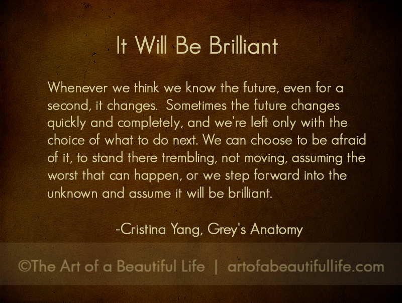 Memorable Cristina Yang Quote from Grey\'s Anatomy - The Art of a ...
