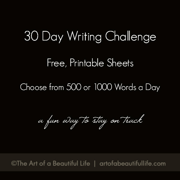 30 Day Writing Challenge 500 or 1000 Words a Day
