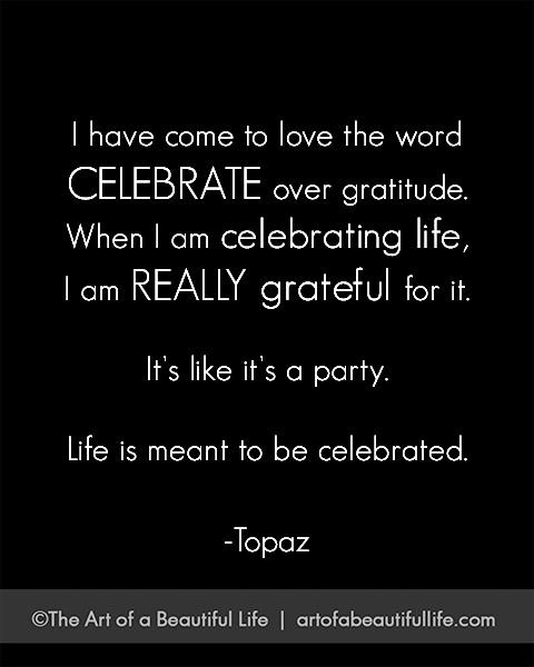 The Secret to a Happy Life: Celebrate it! | Free, Printable 30 Day Celebration Journal | artofabeautifullife.com
