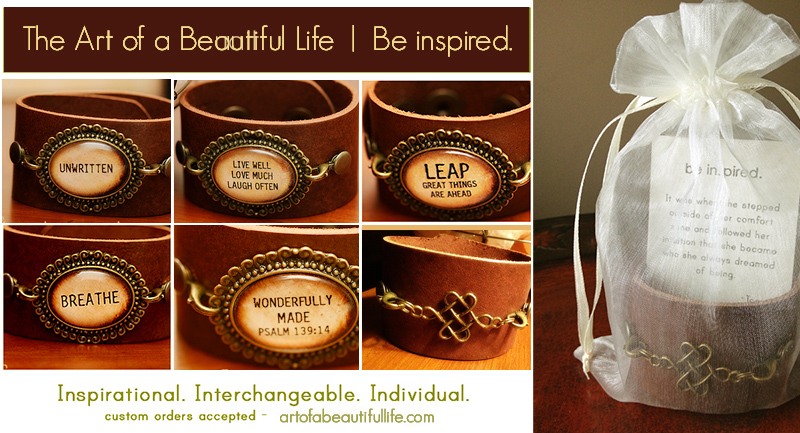 Inspirational Leather Cuff Choose Your Quote
